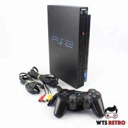 Playstation 2 Konsol med Dual Shock 2 Controller og alle kabler