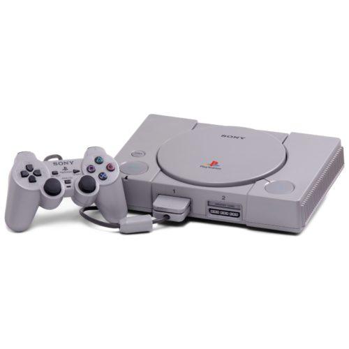 Playstation 1 konsol m. Dual Shock Controller