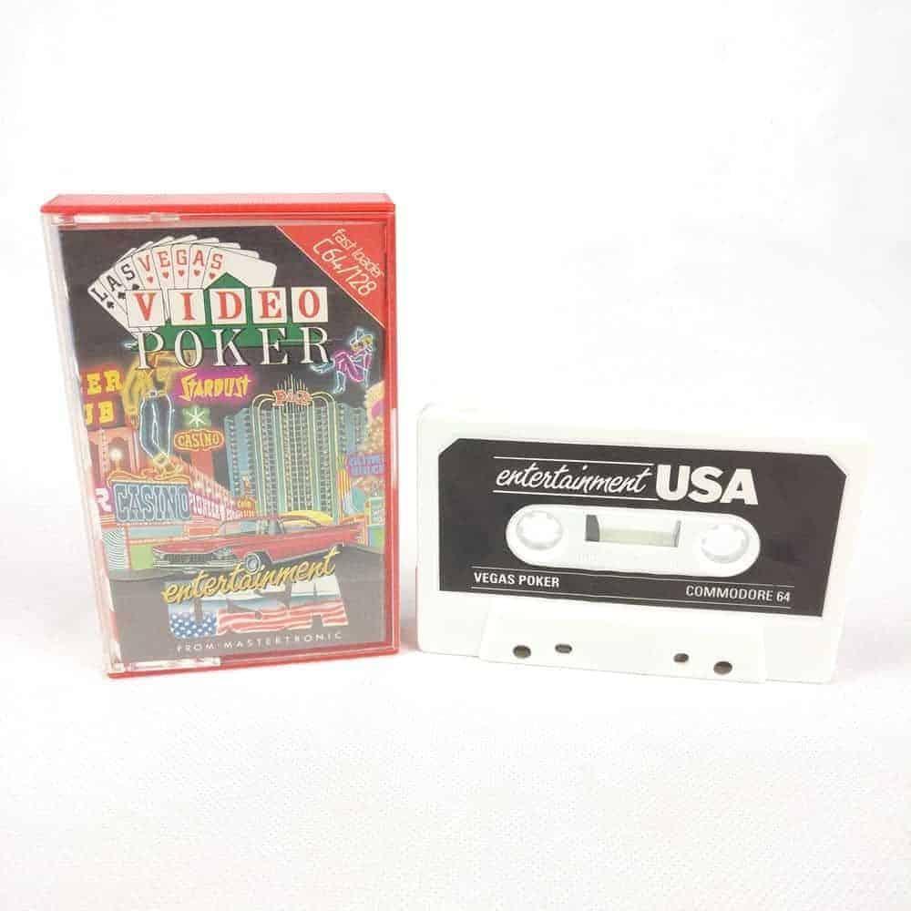 Las Vegas Video Poker (Commodore 64 Cassette)