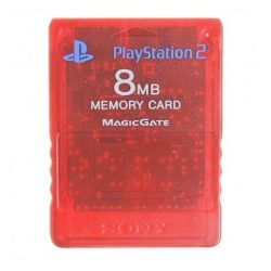 Sony 8MB Memory Card til Playstation 2 - Rød