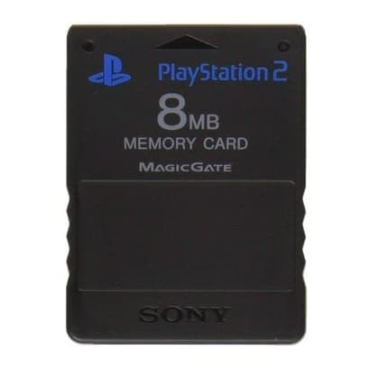 Sony 8MB Memory Card til Playstation 2 - Sort