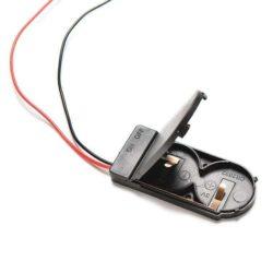 Knapbatteri holder med ledning til Lithium CR2025 CR2032 batterier