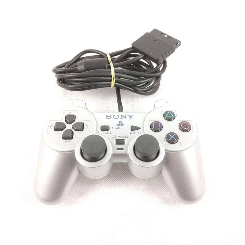 PS2 Controller (Original - Silver - Playstation 2 / PS2)