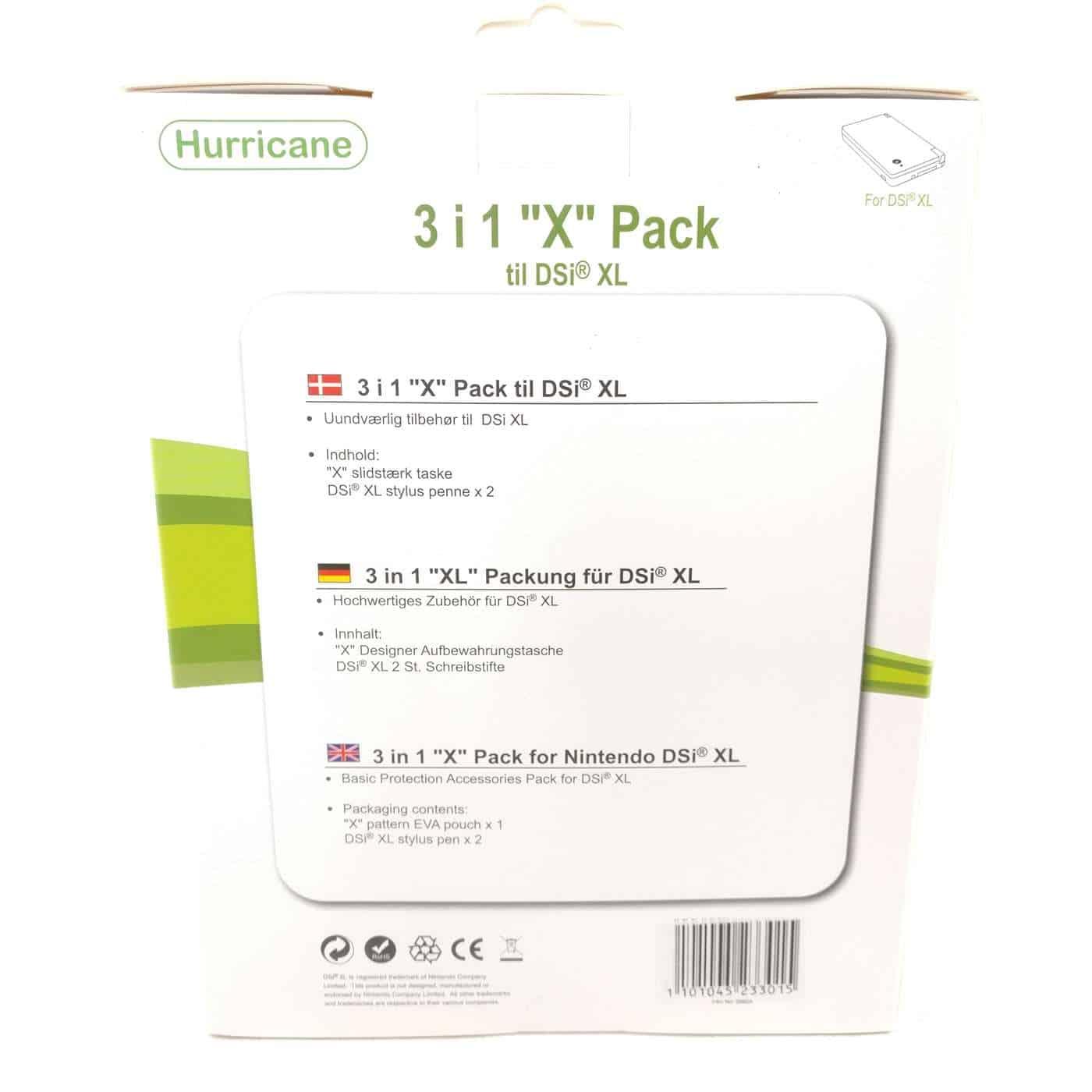 """3i1 """"X"""" Pakke til Nintendo DSi XL (Hvid)"""