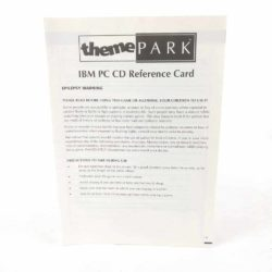 Theme Park IBM PC CD Reference Card
