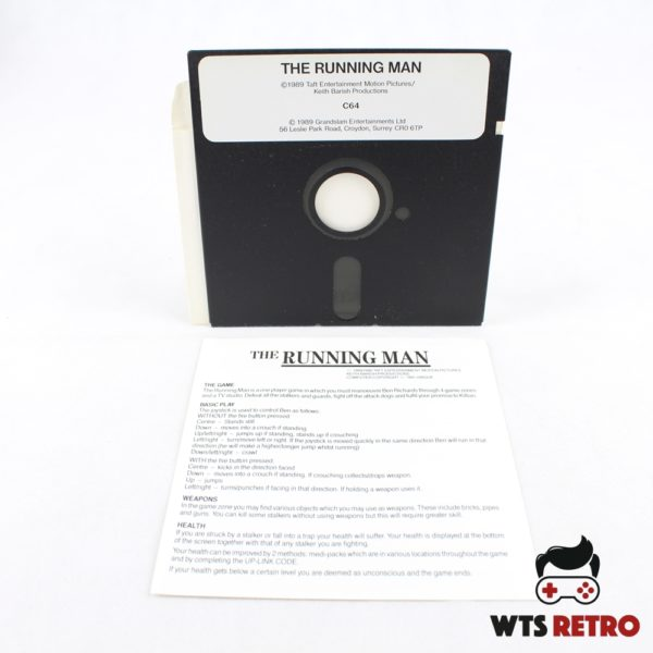 The Running Man (Commodore 64 - Disk)