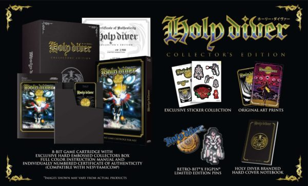 Holy Diver (NES - Collector's Edition) Retro-bit, NES, Famicon