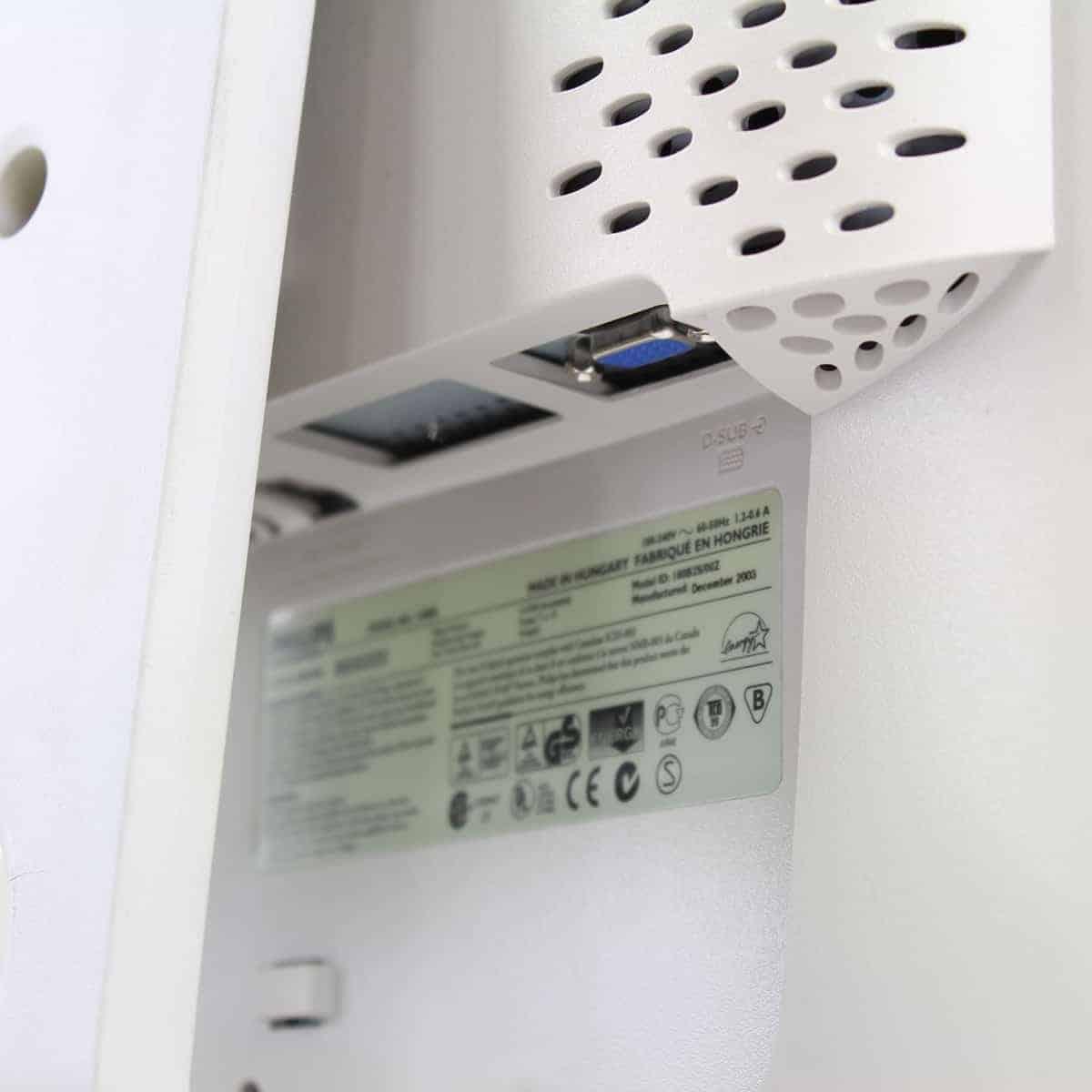 """Philips 180B2 LCD TFT 18"""" Monitor VGA 5:4"""