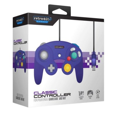 Retro-Bit Nintendo GameCube Classic Controller Purple