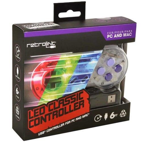 SNES Controller USB LED Retrolink