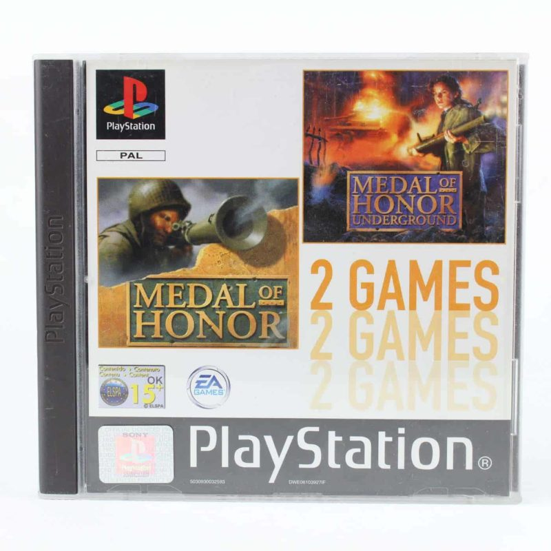 2 Games: Medal of Honor / Medal of Honor: Underground (Playstation 1)