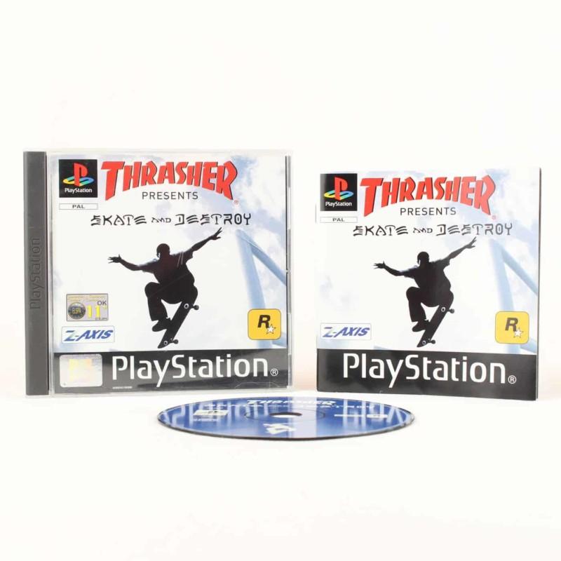Thrasher Presents Skate and Destroy (Playstation 1)