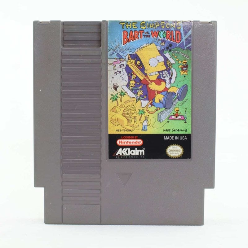 The Simpsons: Bart vs. the World (Nintendo NES, USA/NTSC)