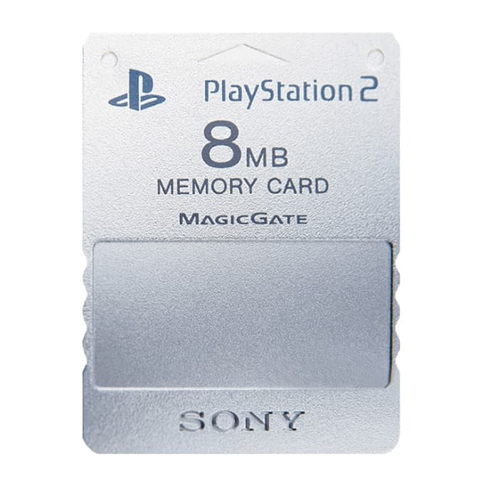 Sony 8MB Memory Card til Playstation 2 - Silver