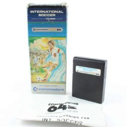 International Soccer (Commodore 64, Cartridge, Boxed)