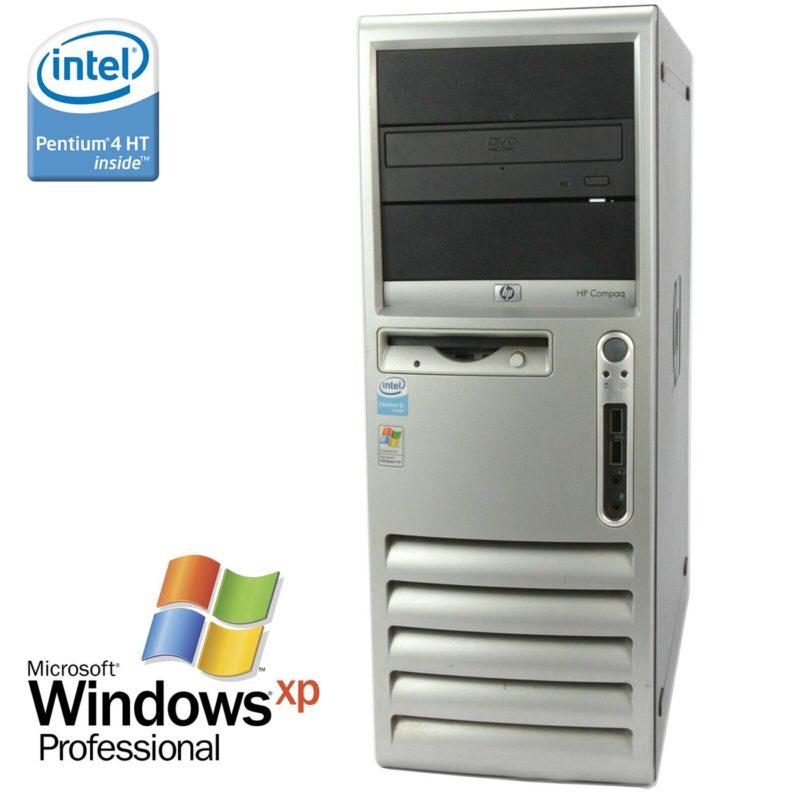HP Compaq dc7600 (Intel Pentium 4 3GHz, 512MB RAM, Windows XP)