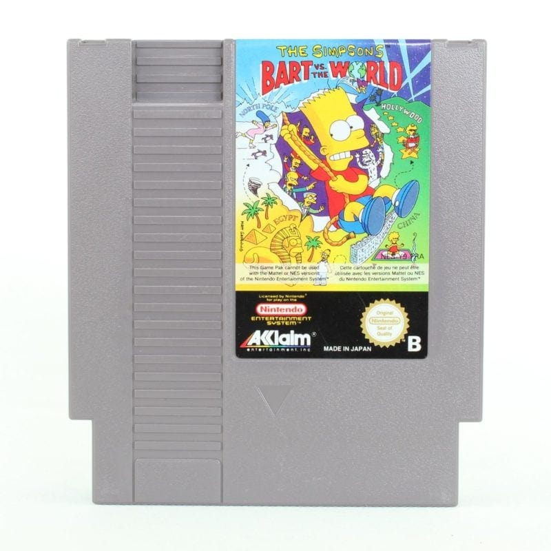 The Simpsons: Bart vs. the World (Nintendo NES, PAL-B, SCN)