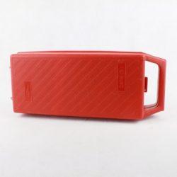 Kuffert med plads til 12 kassettebånd (rød)
