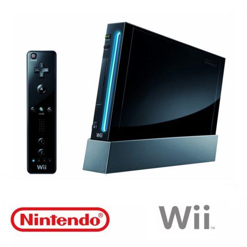Nintendo Wii Konsol (Sort) med alle kabler og MotionPlus + Nunchuck Controller