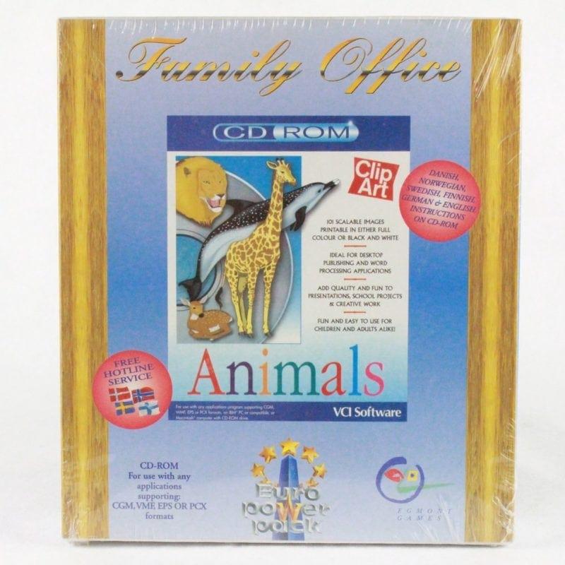 Familiy Office - Animals til PC. Ny og stadig i folie. Udviklet af VCI Software og Udgivet af Euro Power Pack.