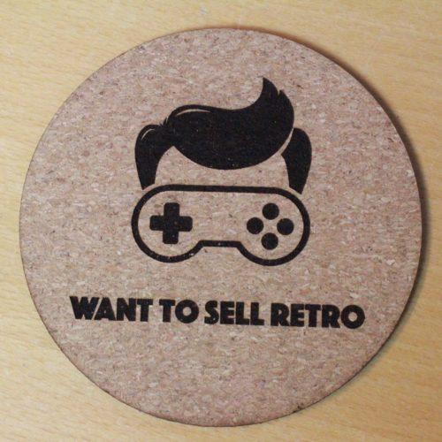 Want To Sell Retro Coaster med logo