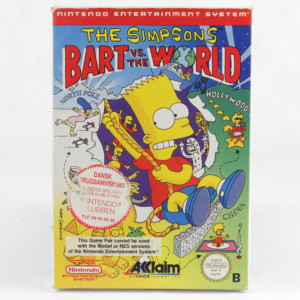 The Simpsons: Bart vs. the World (Nintendo NES, Boxed, PAL-B)