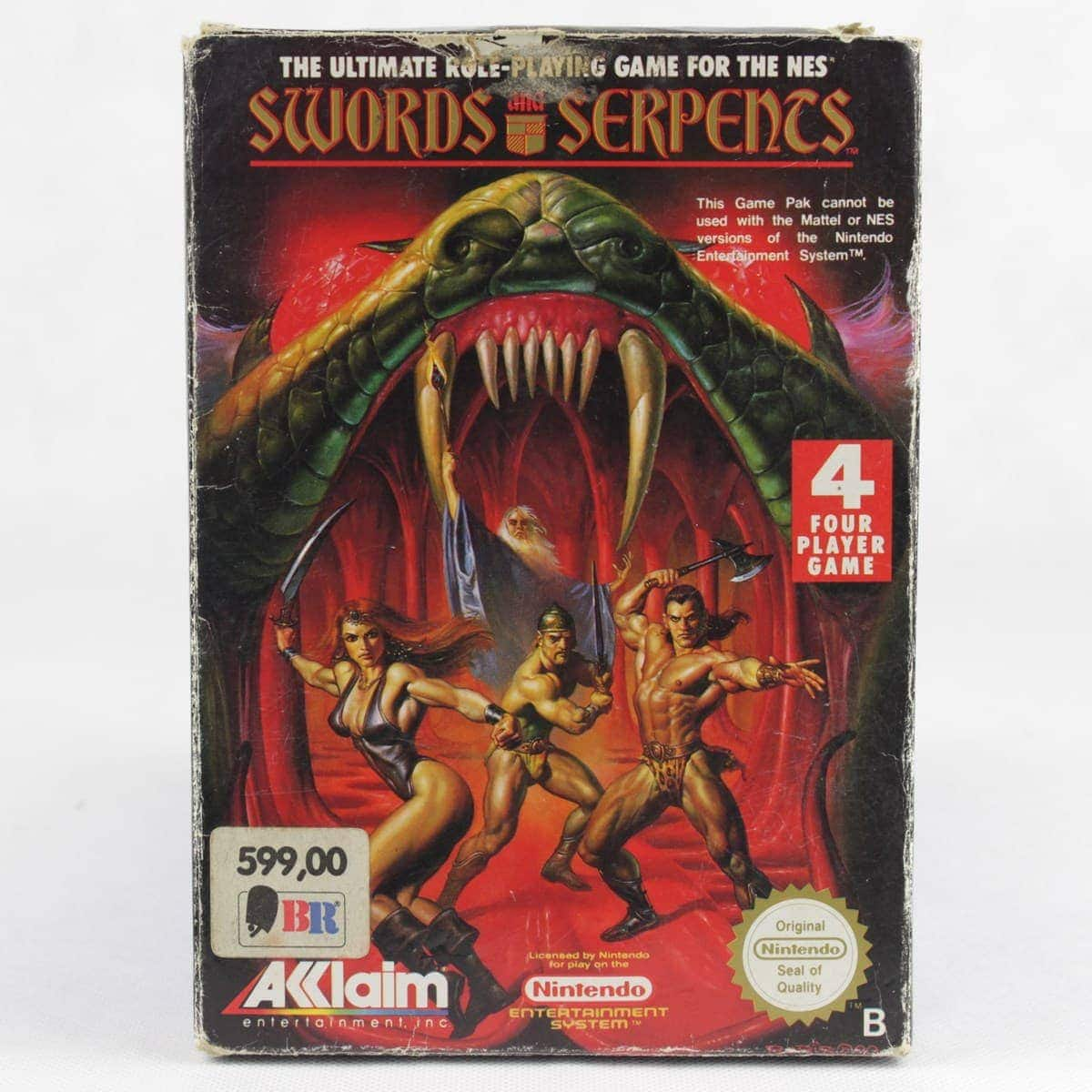 Swords and Serpents (Nintendo NES, Boxed, PAL-B, SCN)