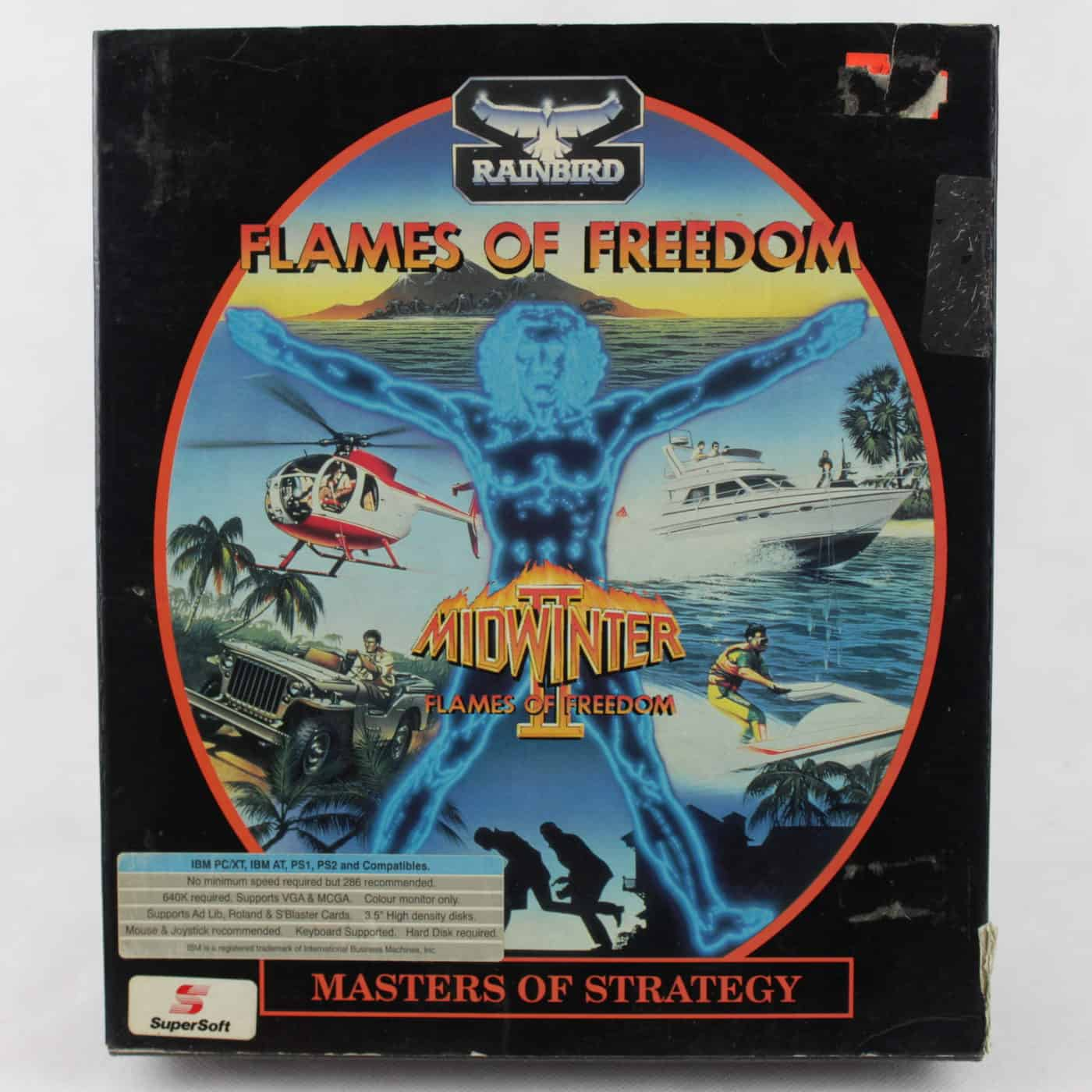 Flames of Freedom (PC Big Box, DOS, 1992, Floppy Disk, Maelstrom Games)