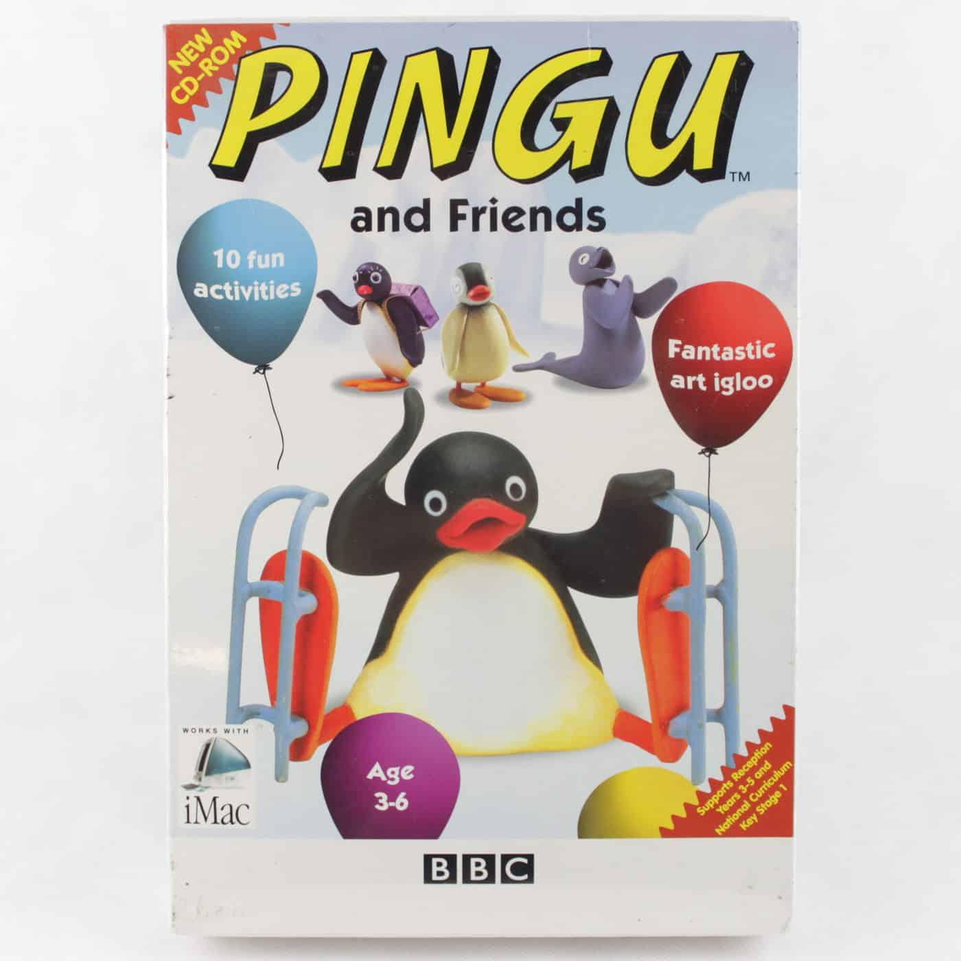 Pingu and Friends (PC/MAC Big Box, 2001, NEW, Workhouse / Softkey London)