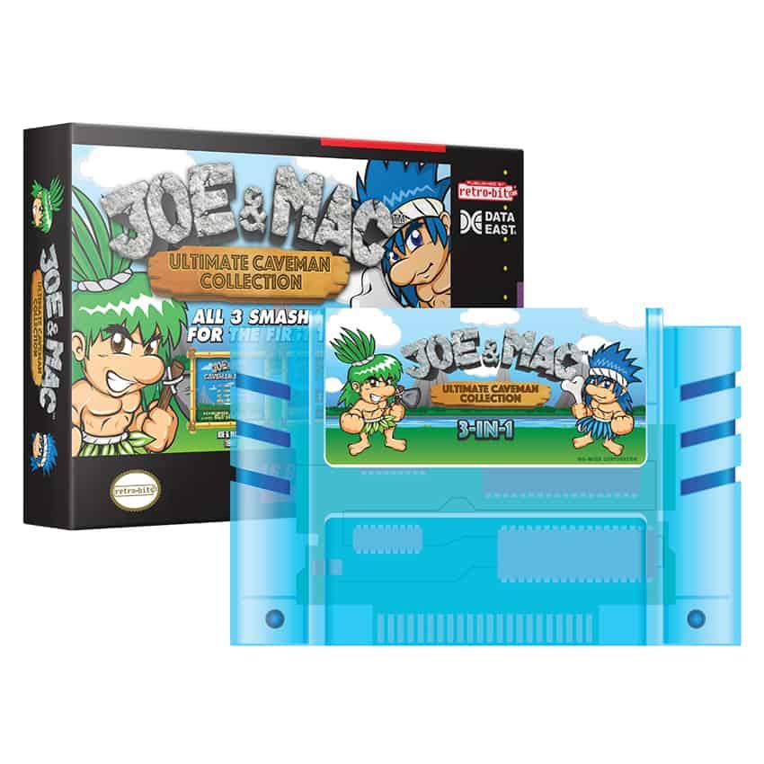 Joe & Mac Ultimate Caveman Collection - Ice Age Blue Cart (Super Nintendo)