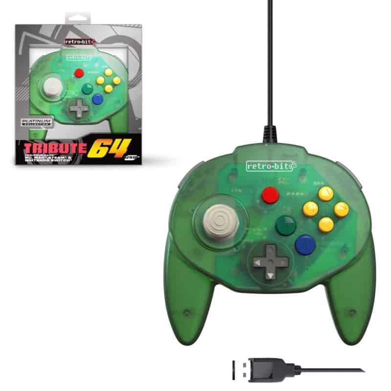 Retro-Bit Tribute 64 Forest Green USB Controller