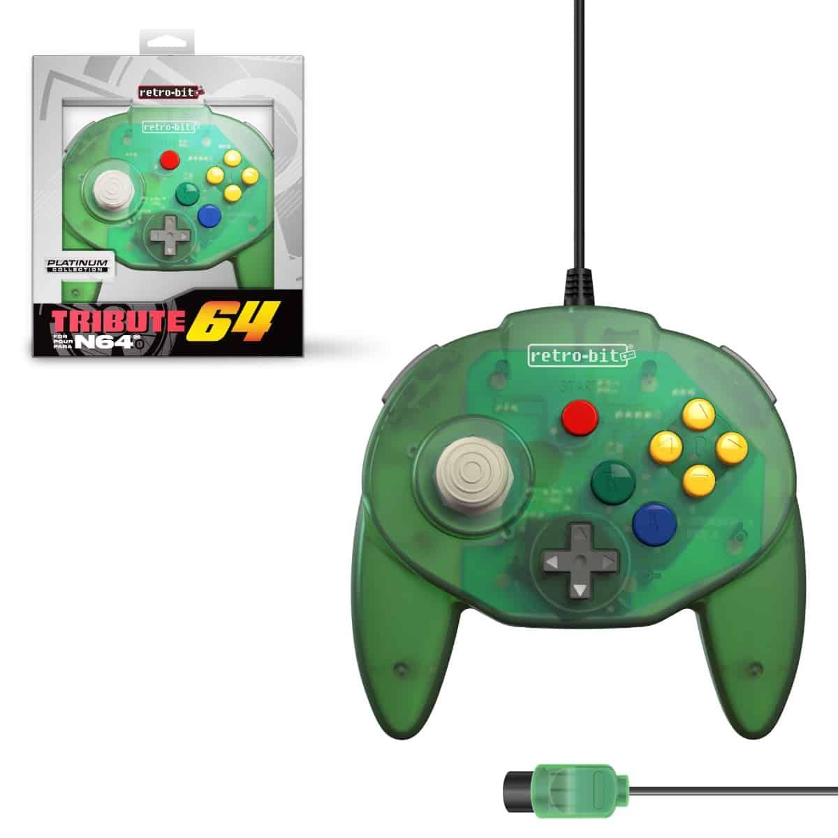 Retro-Bit Tribute 64 Forest Green Nintendo 64 Controller