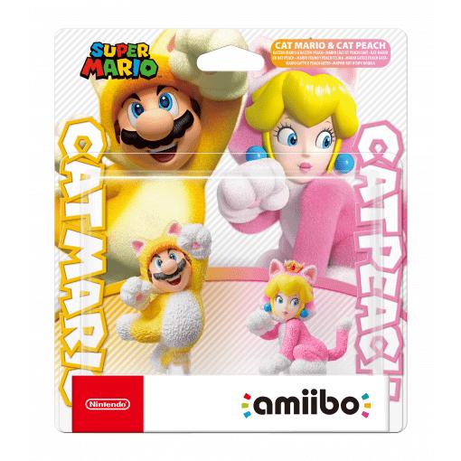 Nintendo Amiibo Cat Mario & Cat Peach (Super Mario Collection)